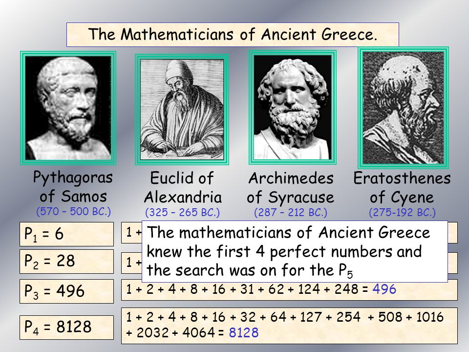 The Mathematicians of Ancient Greece.