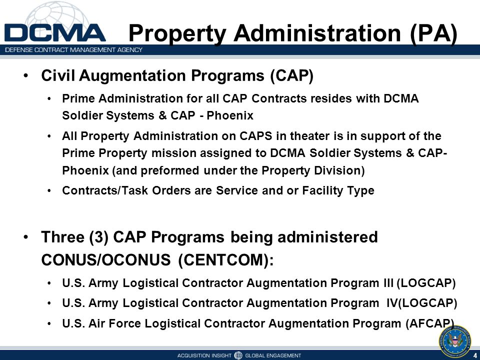 5 5/9/2015 U.S.Army LOGCAP III Program Activity U.S.