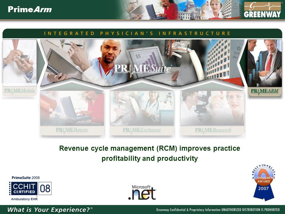 PrimeArm Revenue cycle management (RCM) improves practice profitability and productivity