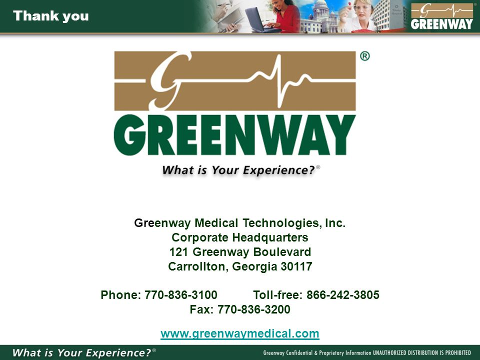 Greenway Medical Technologies, Inc.