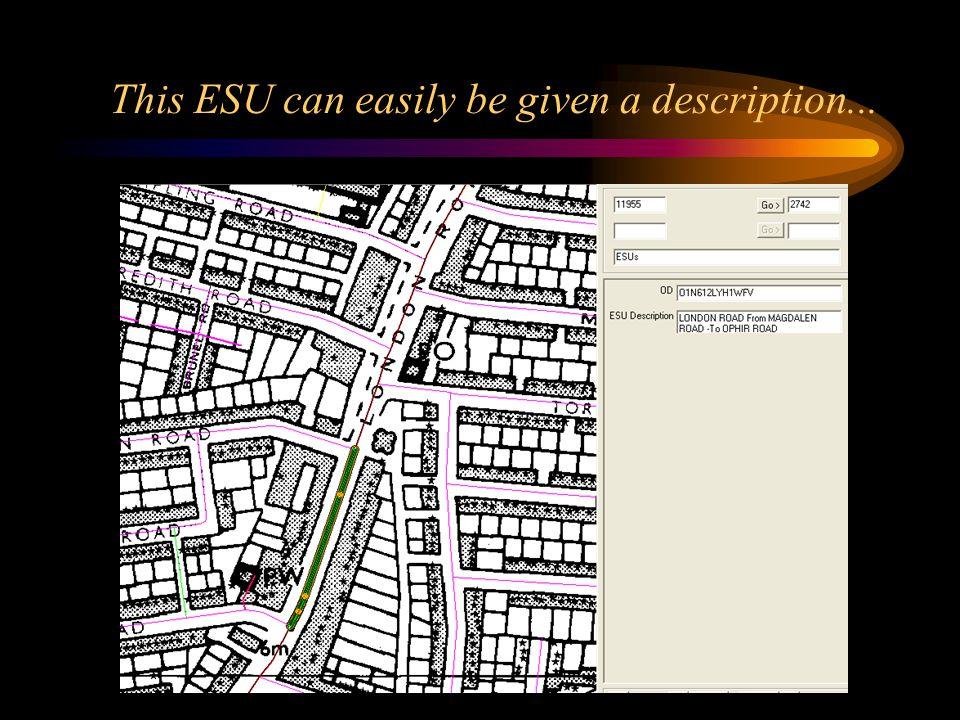 This ESU can easily be given a description...