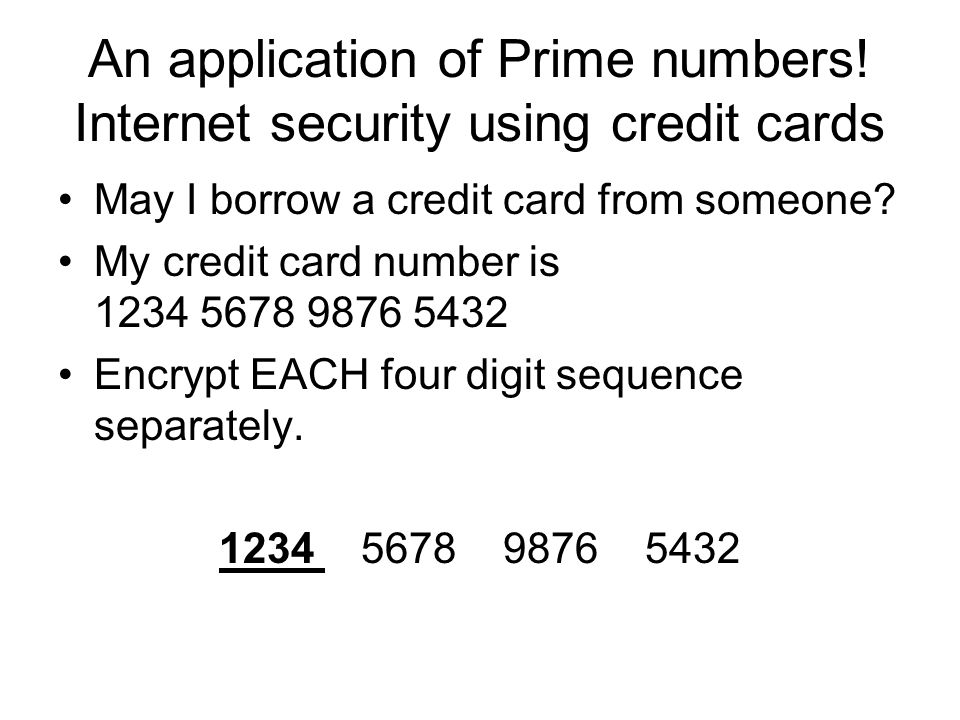 An application of Prime numbers.