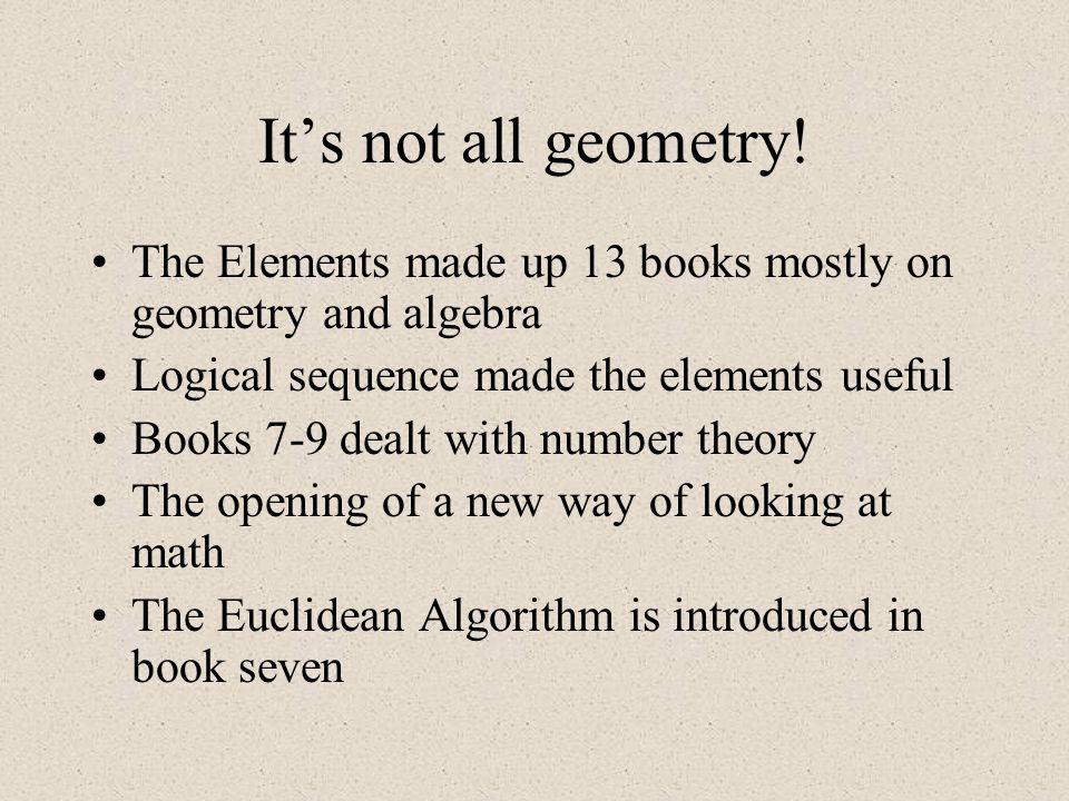 The Life of Euclid Born in Alexandria around 300 B.C.