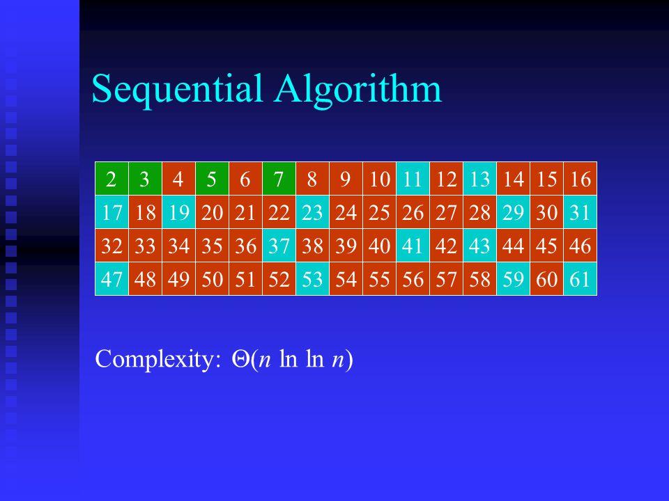 Sequential Algorithm 2345678910111213141516 171819202122232425262728293031 323334353637383940414243444546 474849505152535455565758596061 246810121416