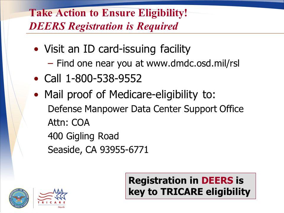 Take Action to Ensure Eligibility.