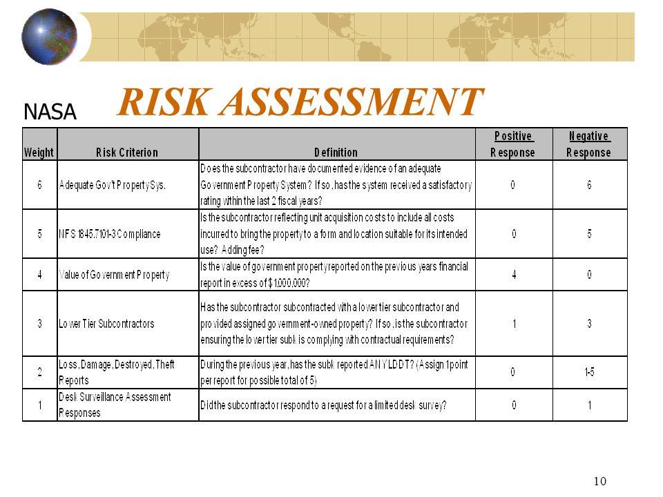 10 RISK ASSESSMENT NASA