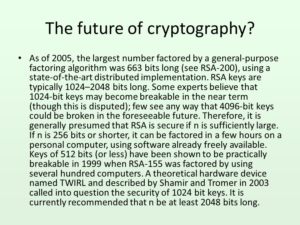 Is RSA safe.
