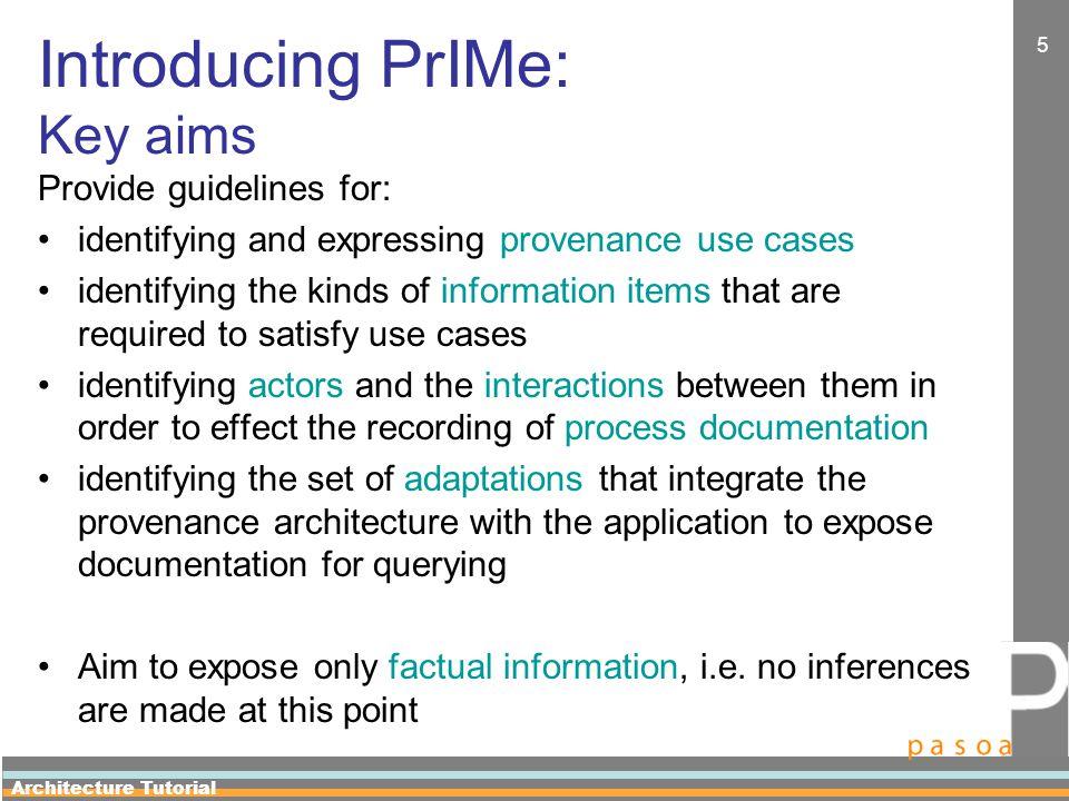Architecture Tutorial 26 Step 2: Information Items Capture Information items are to be captured by process documentation, i.e.