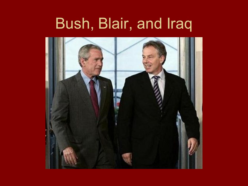 Bush, Blair, and Iraq