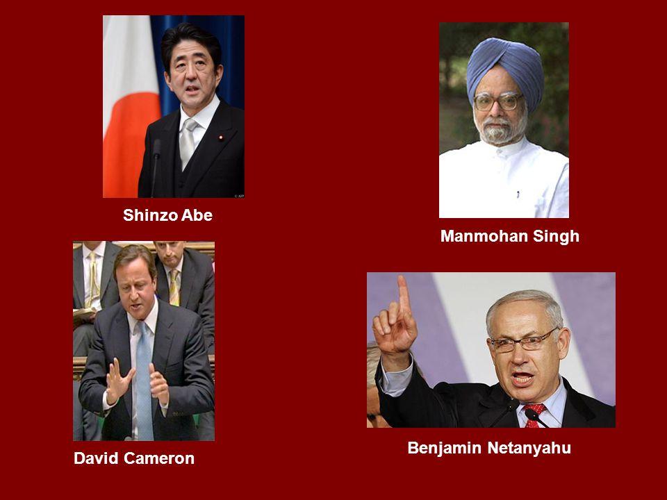Benjamin Netanyahu Manmohan Singh Shinzo Abe David Cameron