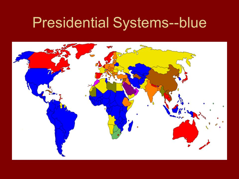 Presidential Systems--blue