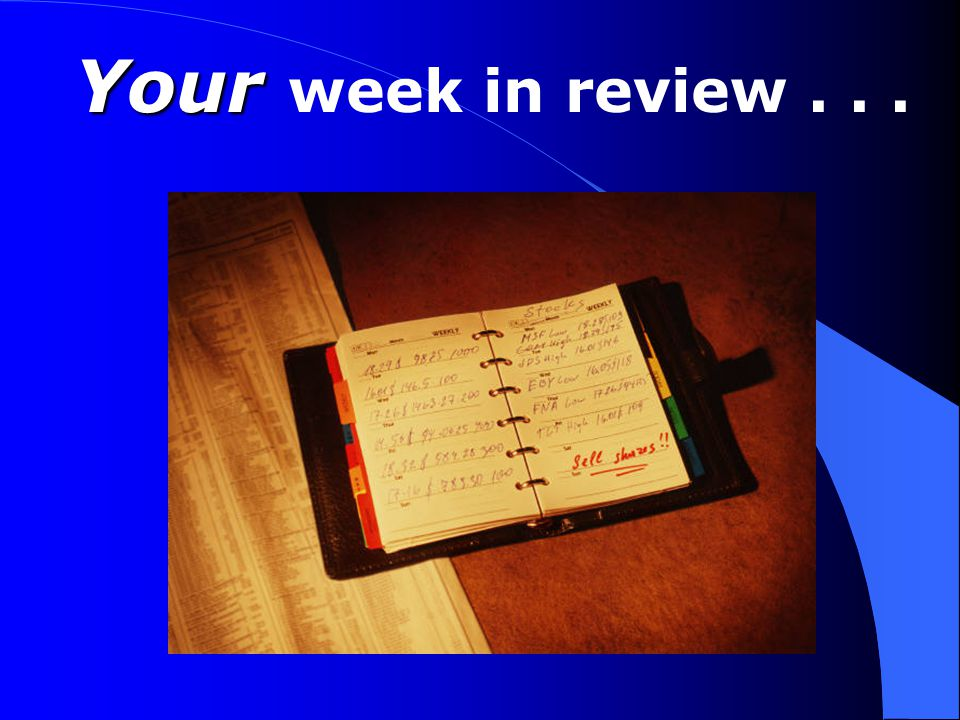 Your Your week in review...