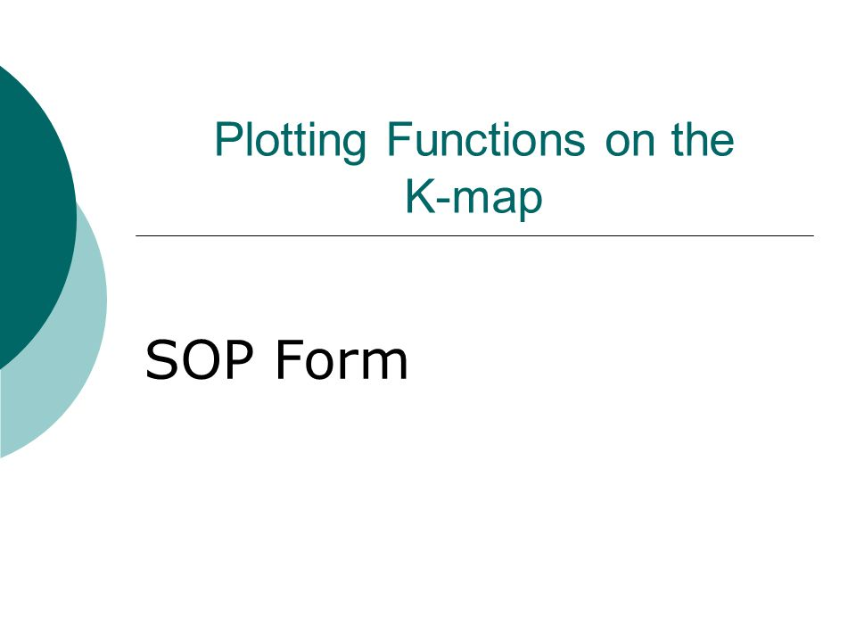 Plotting Functions on the K-map SOP Form