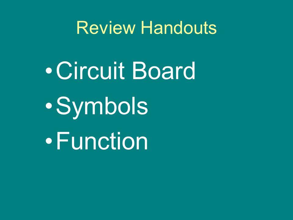 Review Handouts Circuit Board Symbols Function