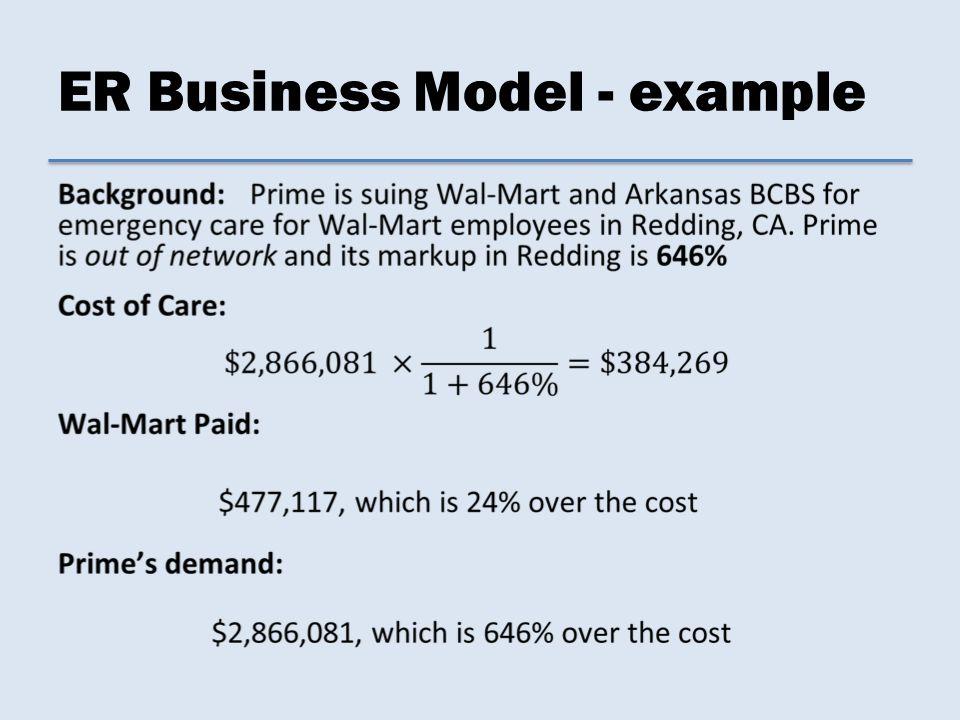 ER Business Model - example