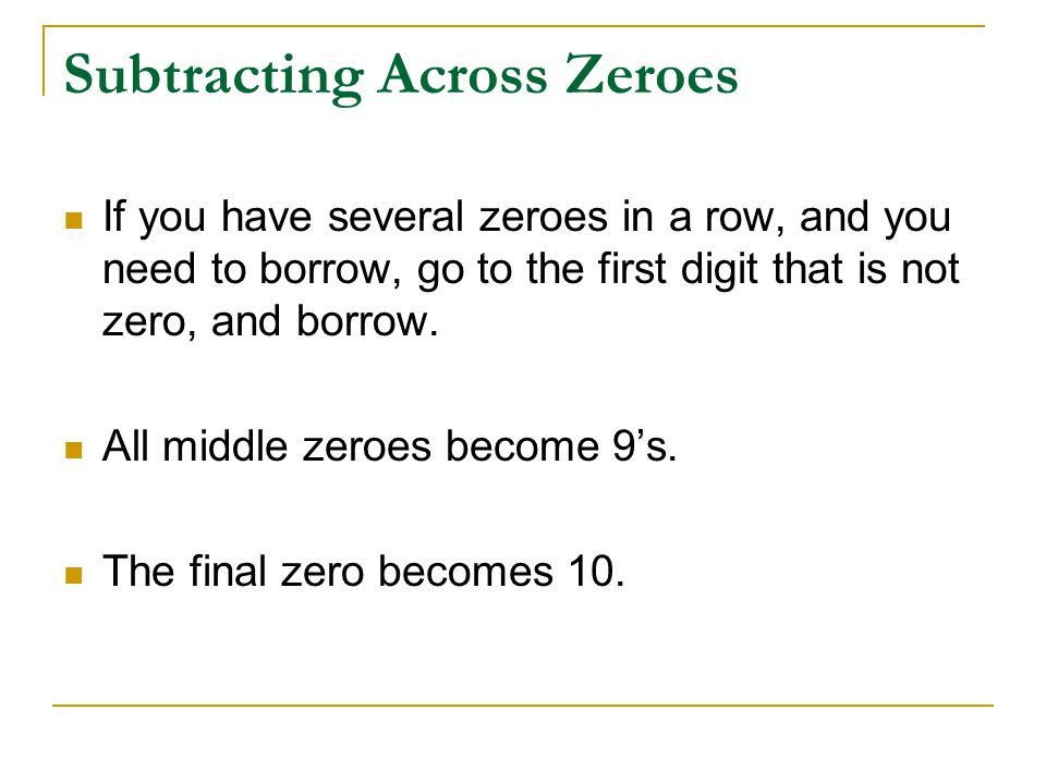 math worksheet : subtracting across zeros  more information : Subtracting Across Zeros Worksheets