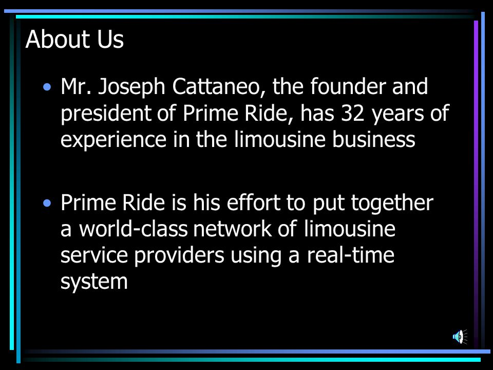 Welcome to Prime Ride A Limousine Network of Choice