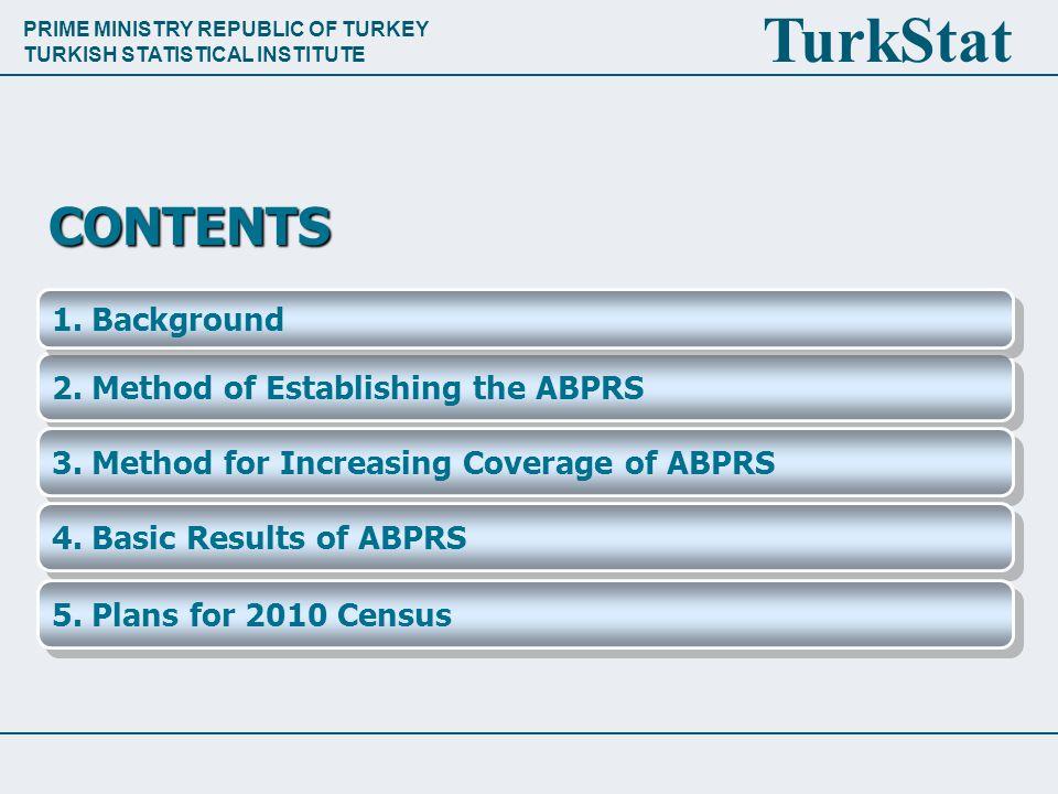 PRIME MINISTRY REPUBLIC OF TURKEY TURKISH STATISTICAL INSTITUTE TurkStat 2.