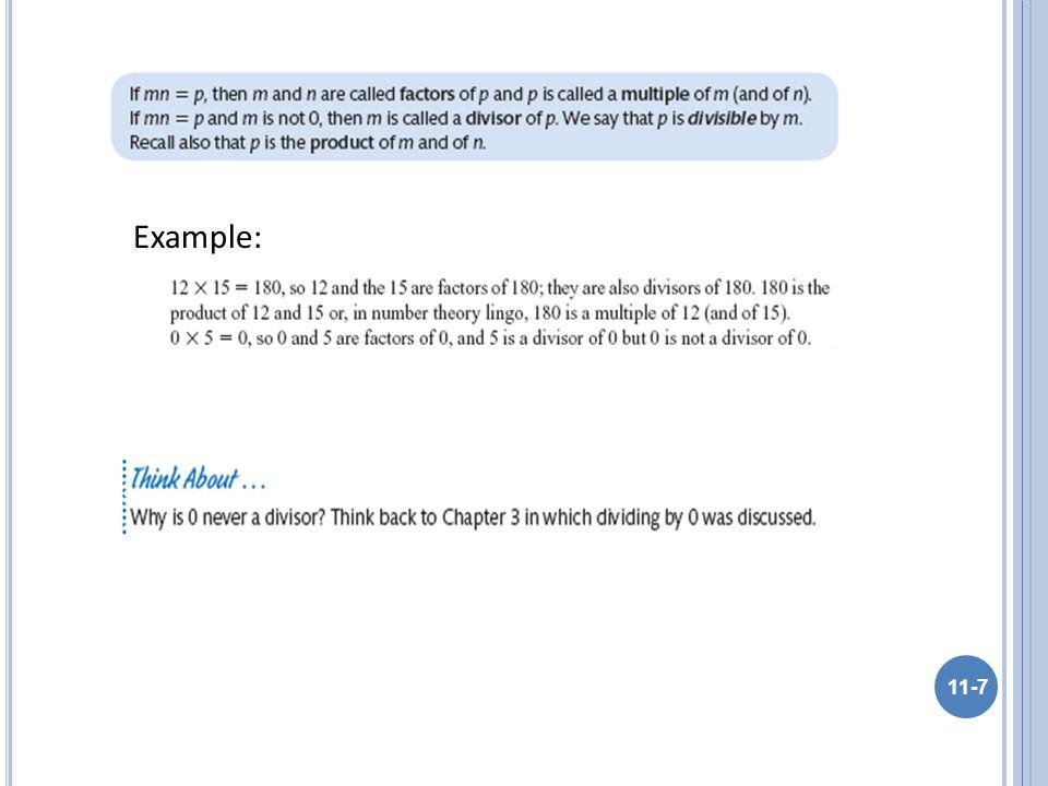 11-7 Example: