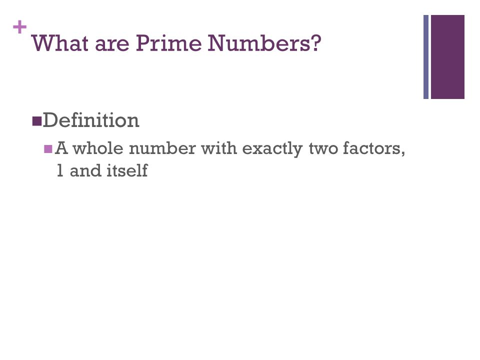 + What are Prime Numbers? ?