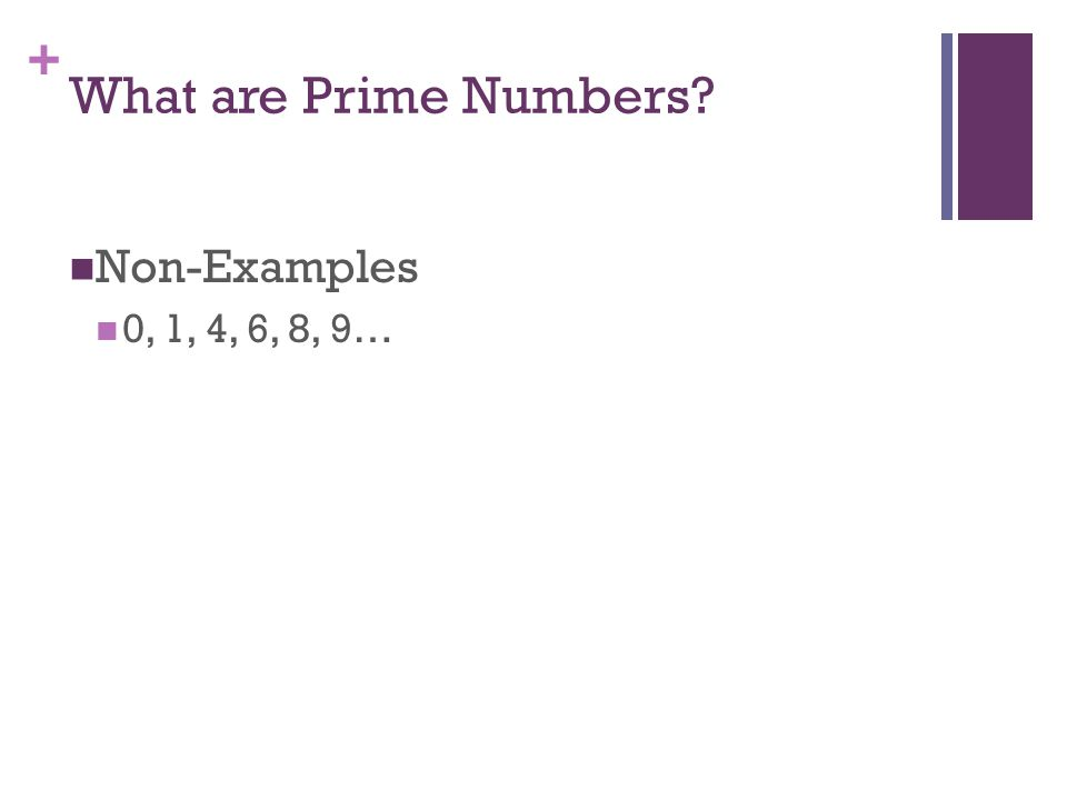 + What are Prime Numbers.