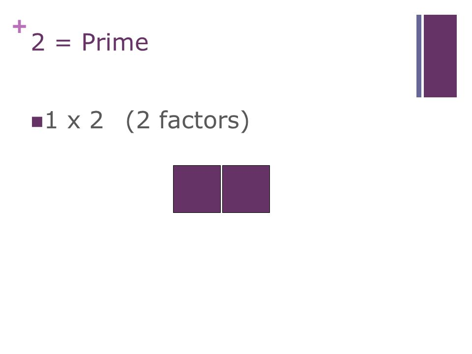+ 1 = Neither Prime (only 2 factors) Nor Composite (more than 2 factors) 1 only has one factor