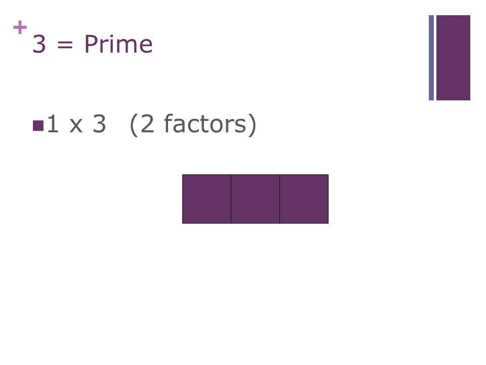 + 2 = Prime 1 x 2(2 factors)