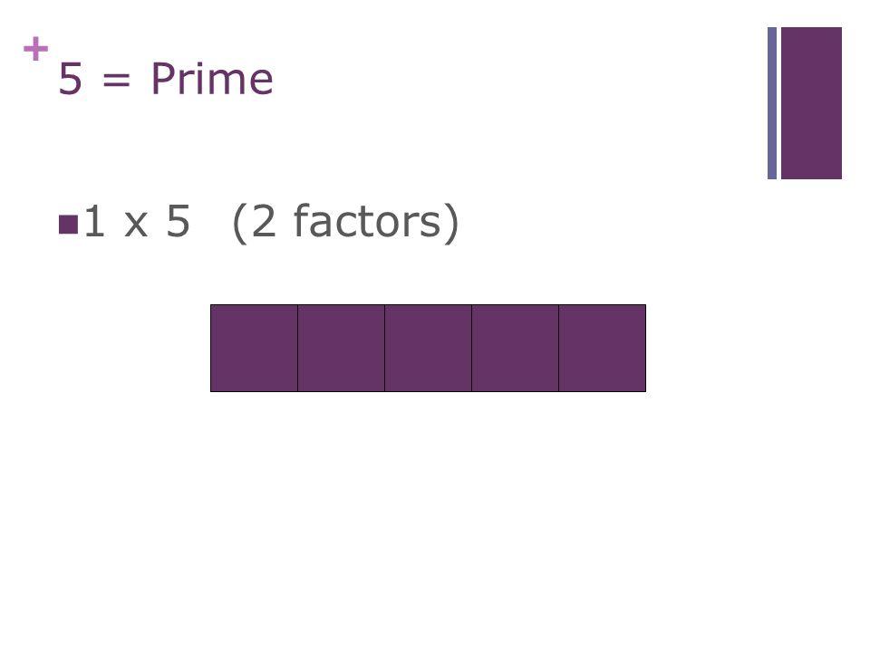 + 4 = Composite (3 factors) 1 x 4 2 x 2
