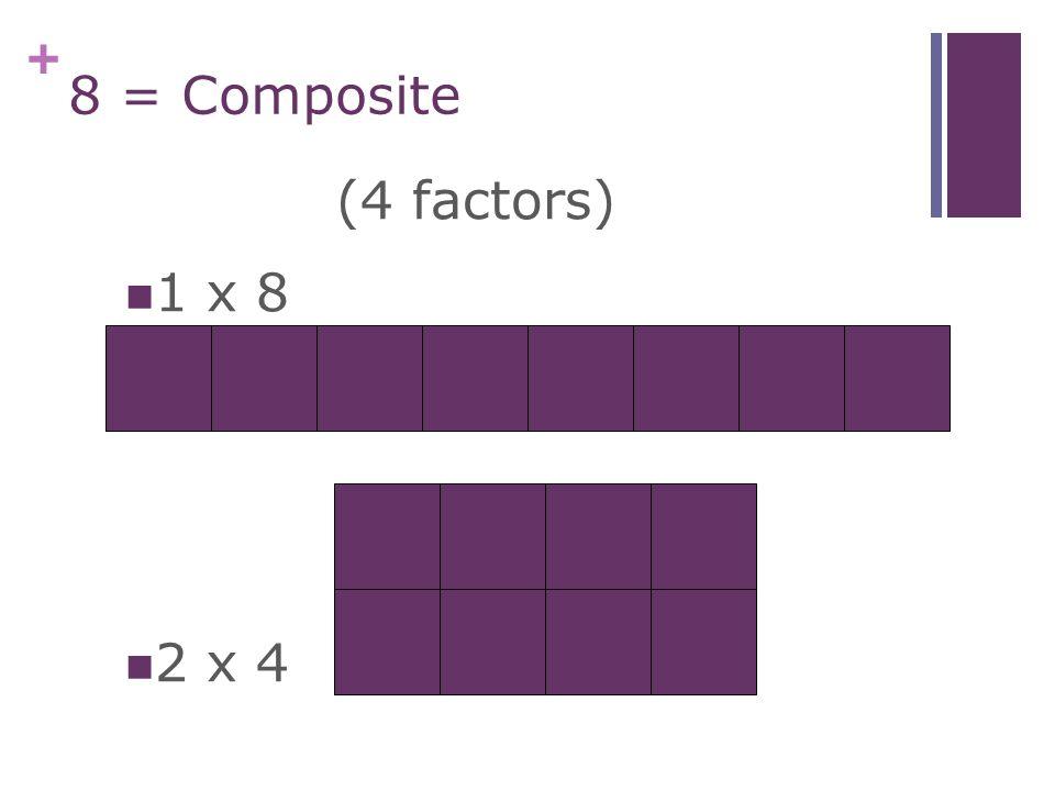 + 7 = Prime 1 x 7(2 factors)