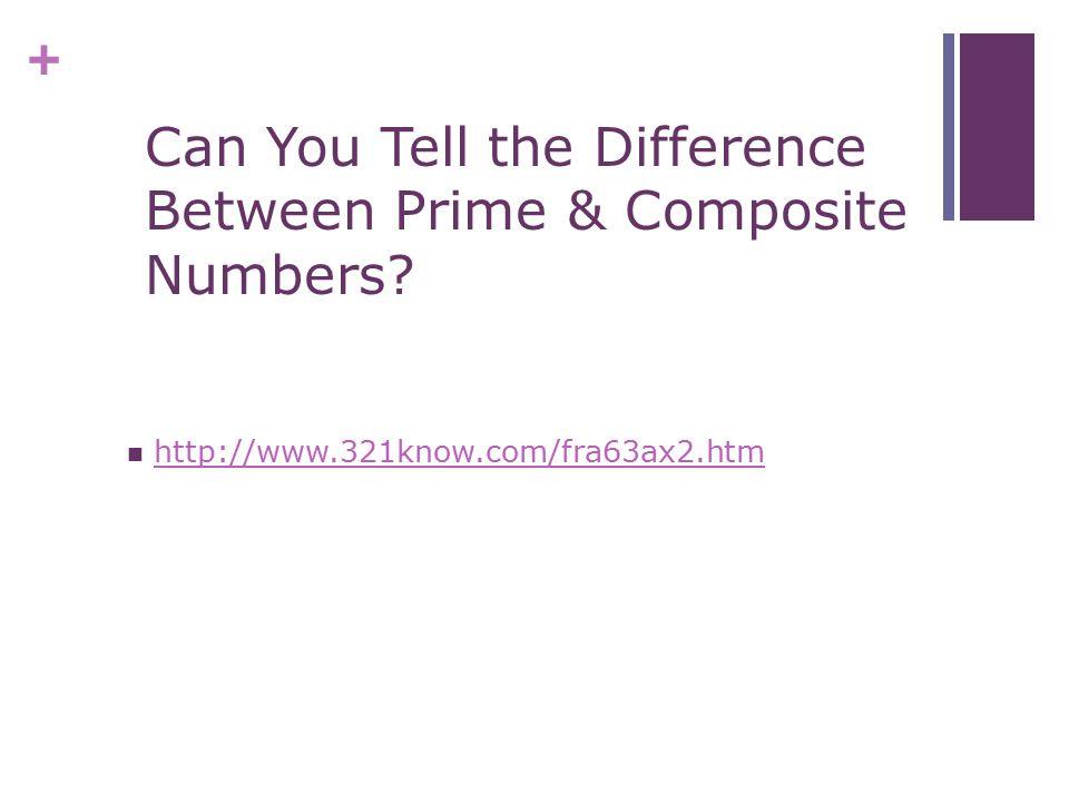 + 8 = Composite (4 factors) 1 x 8 2 x 4
