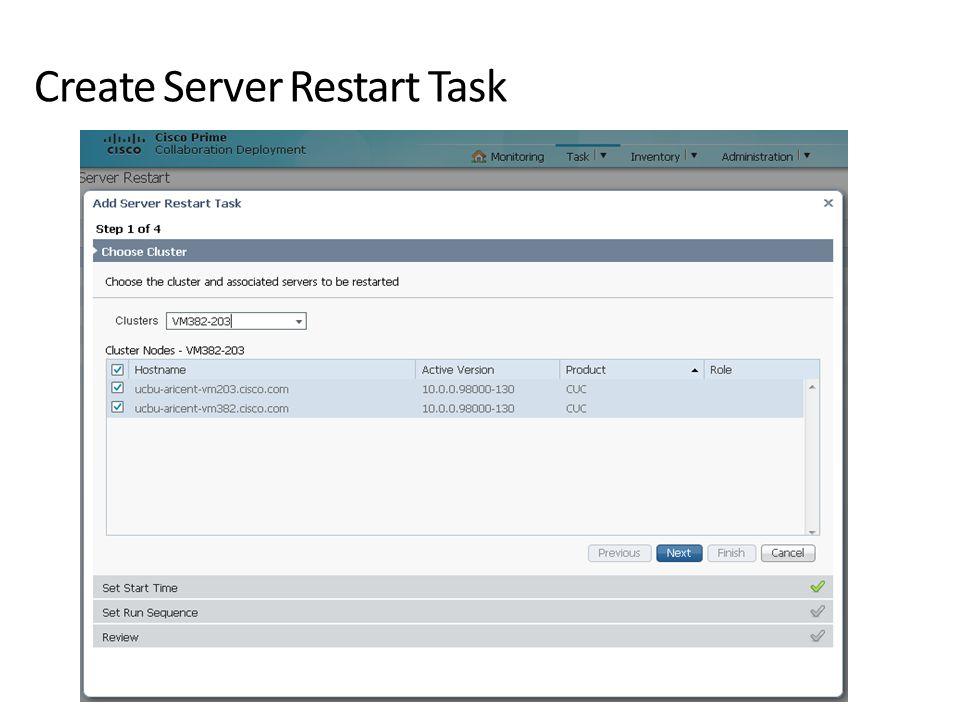 Create Server Restart Task