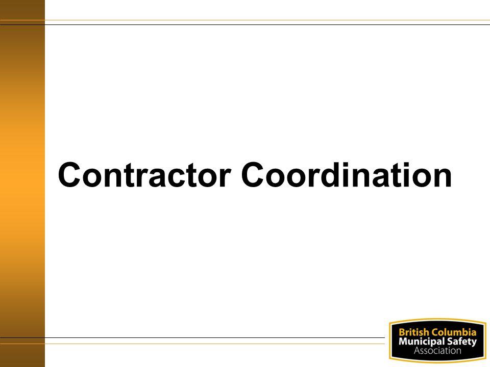 Contractor Coordination