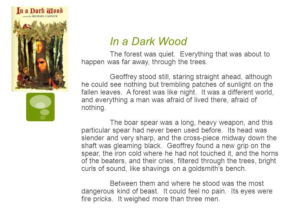 In a Dark Wood The forest was quiet.