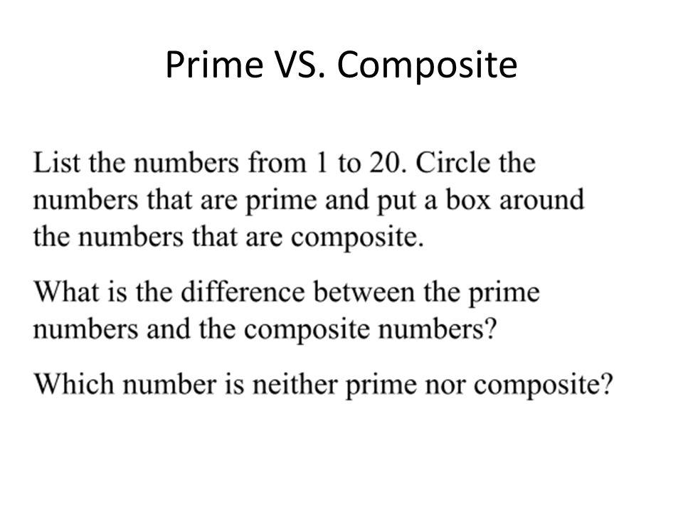 Prime VS. Composite