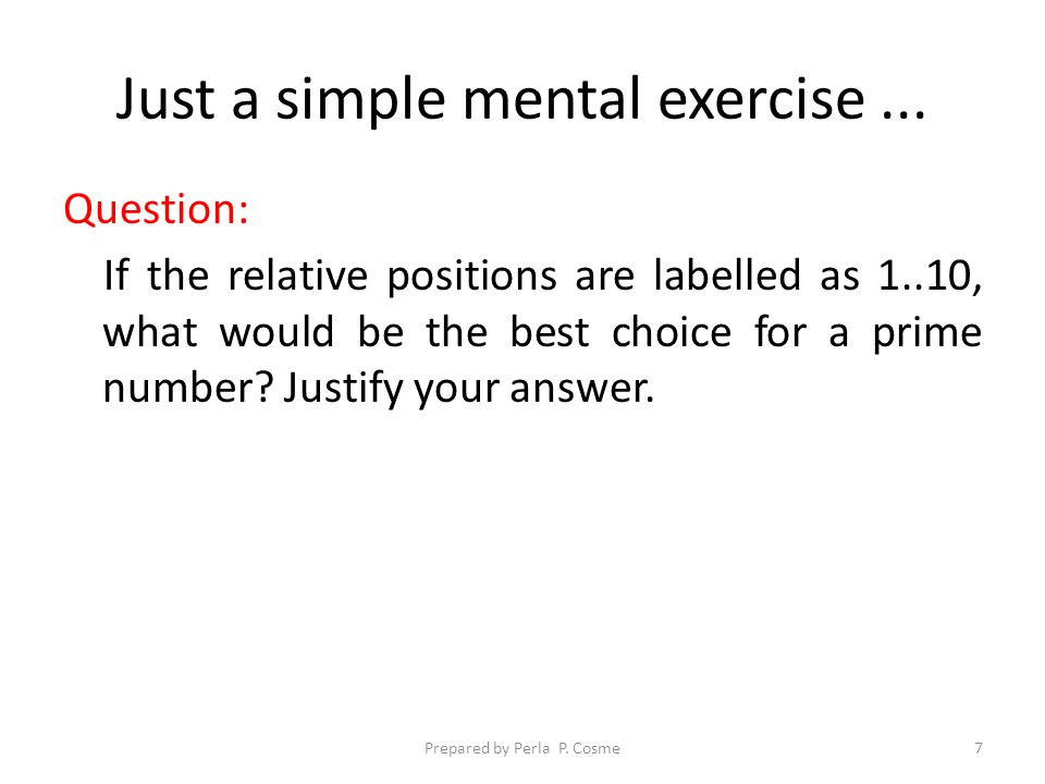 Another simple mental exercise...