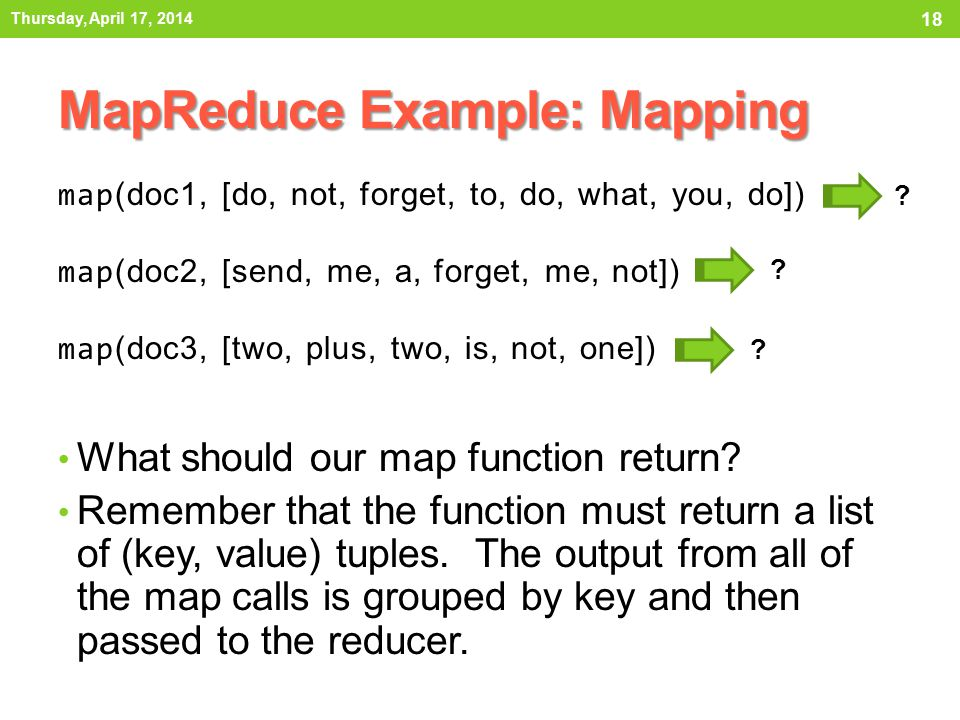 What should our map function return.