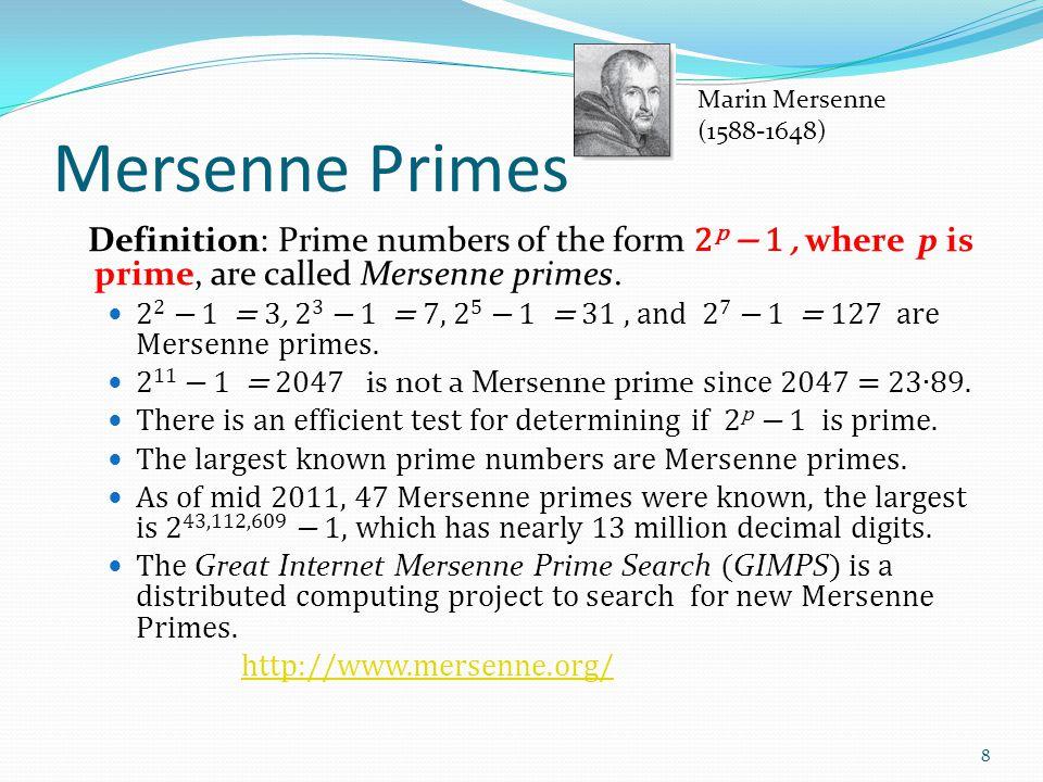 Pseudoprimes By Fermat's little theorem, if n > 2 is prime, then 2 n- 1 ≡ 1 (mod n).