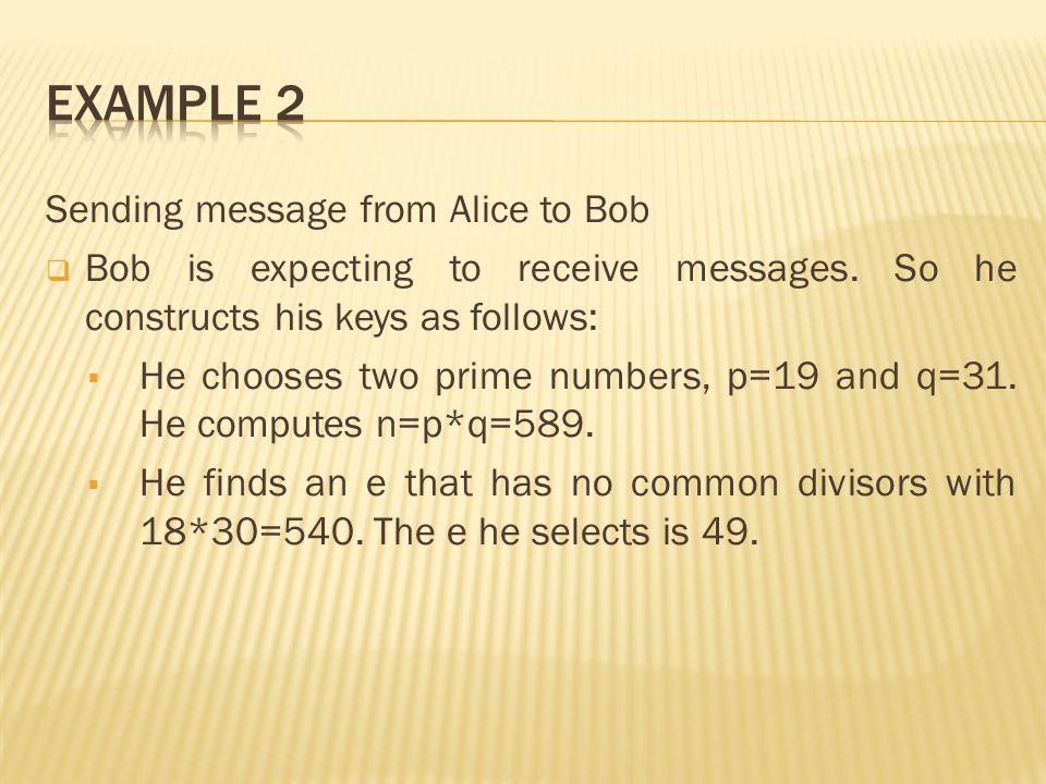 Sending message from Alice to Bob  Bob is expecting to receive messages.