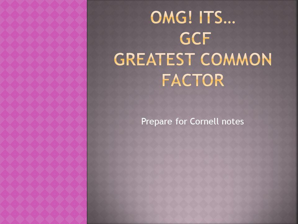 Prepare for Cornell notes