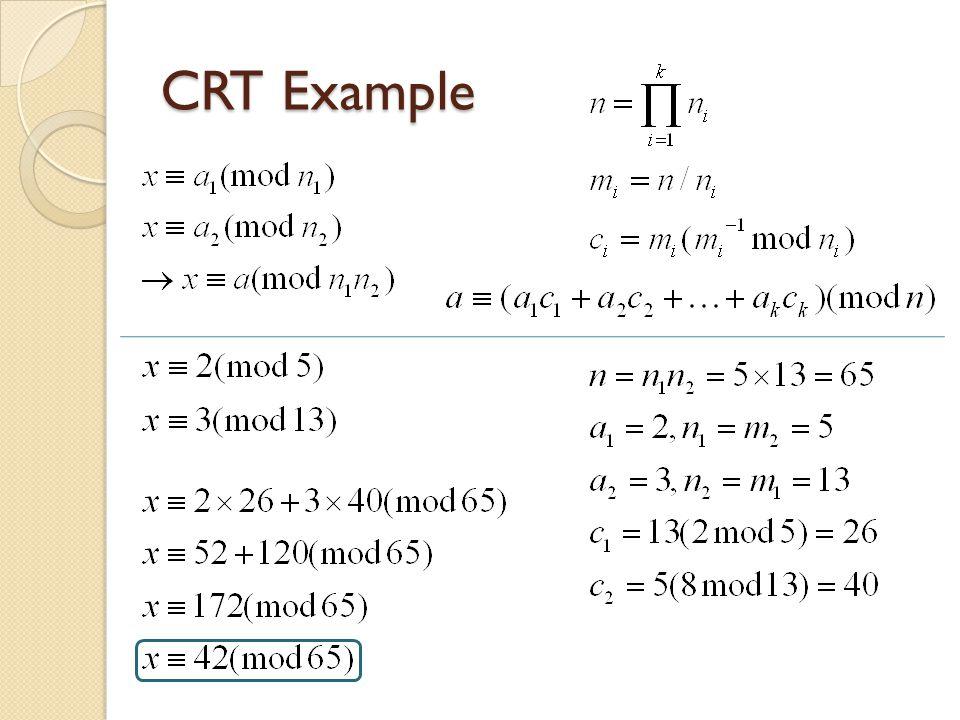 CRT Example