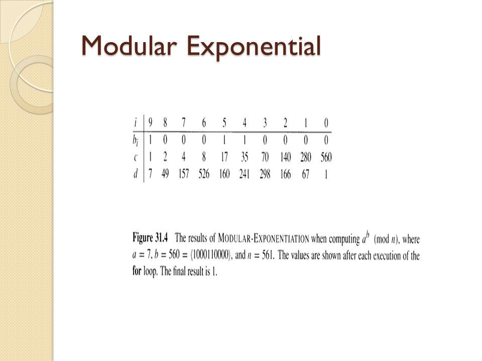 Modular Exponential