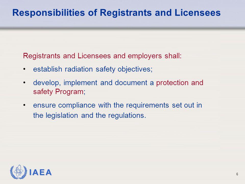 IAEA 17 protection shall be optimized e.g.