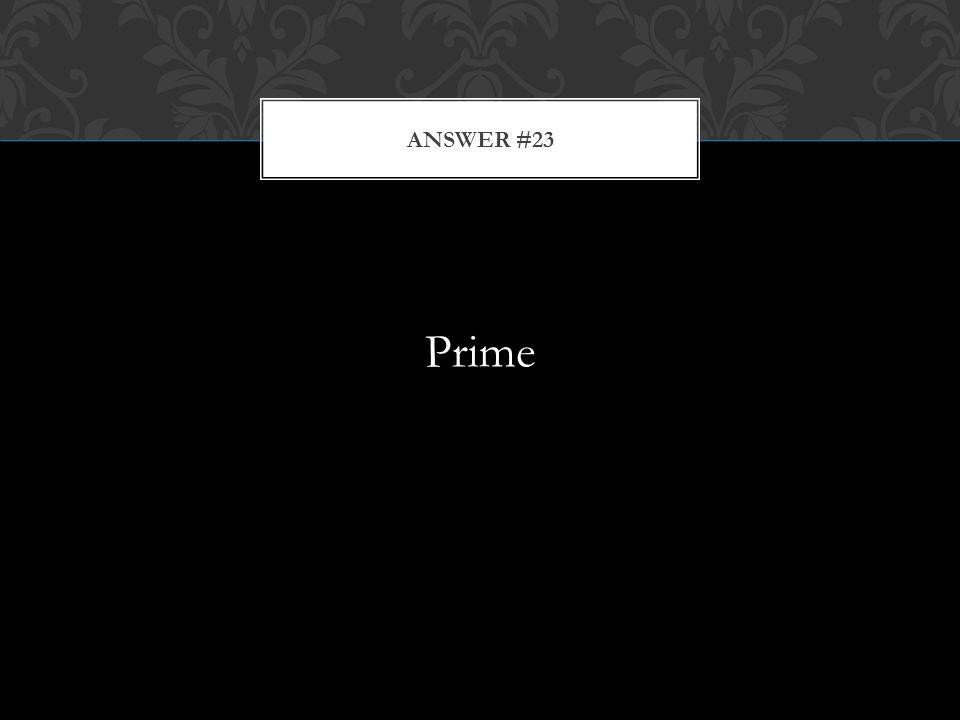 Prime ANSWER #23