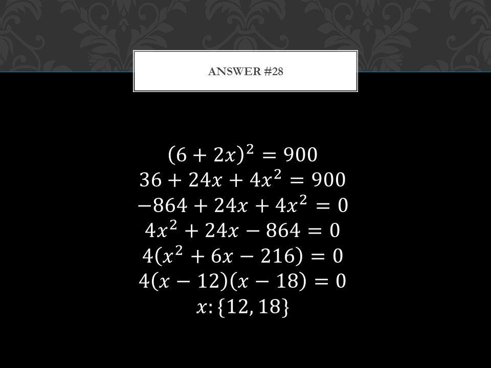 ANSWER #28
