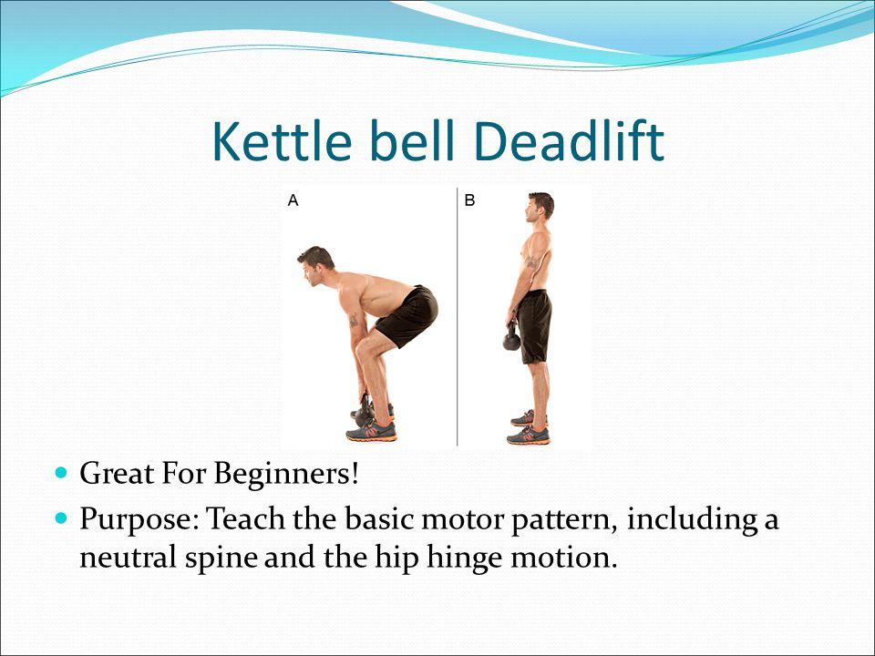 Deadlift Variations 1.Kettle bell Deadlift 2. Romanian Deadlift (RDL) 3.