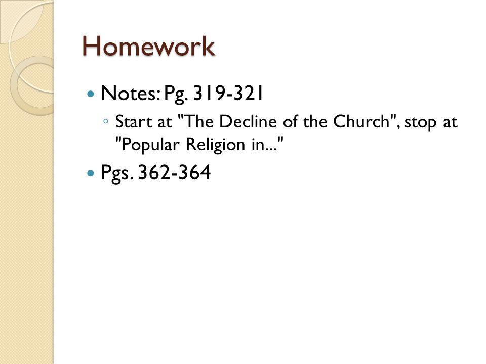 Homework Notes: Pg.