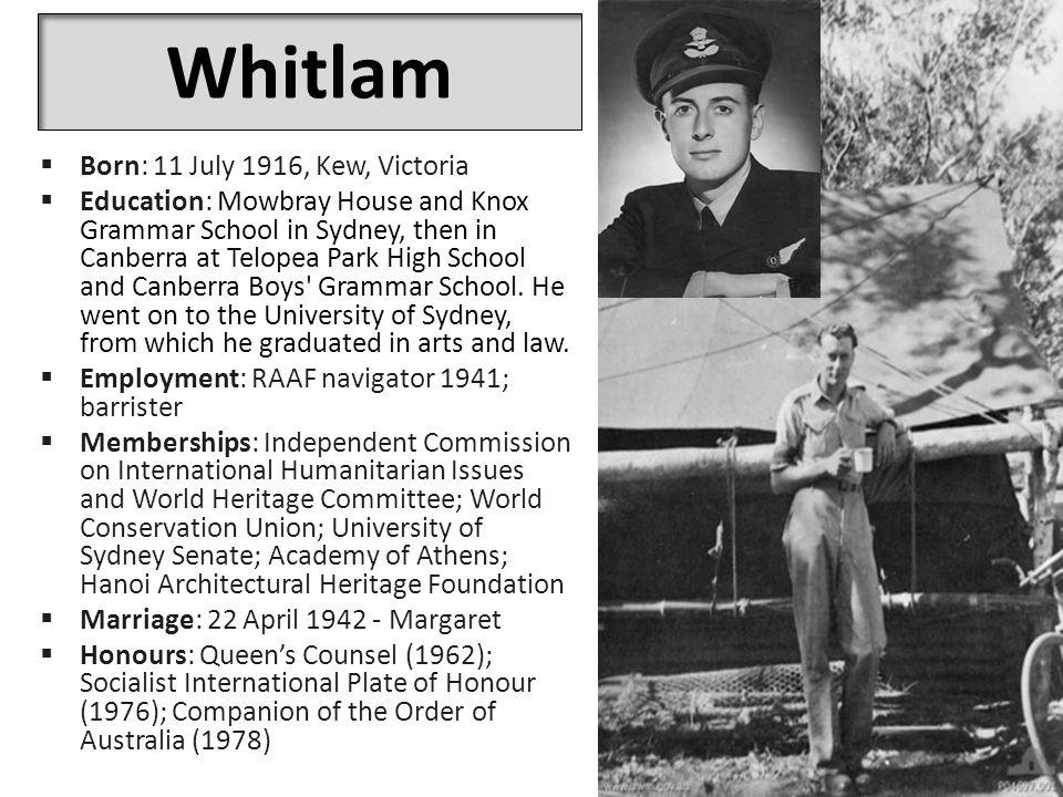 The Dismissal  Governor-General John Kerr intervened and sent for Whitlam.