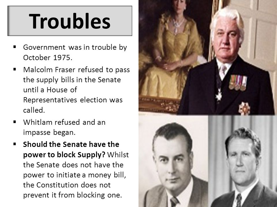 Troubles  Government was in trouble by October 1975.
