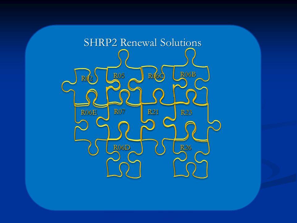 SHRP2 Renewal Solutions