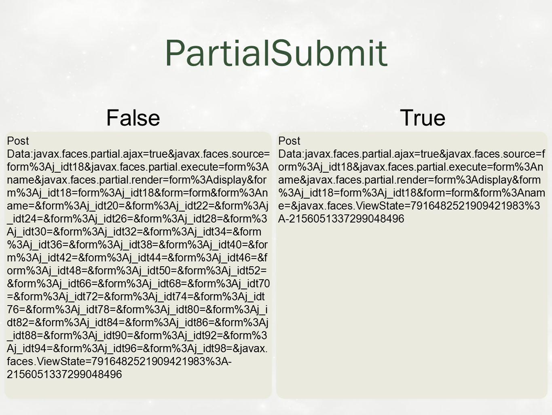 PartialSubmit Post Data:javax.faces.partial.ajax=true&javax.faces.source= form%3Aj_idt18&javax.faces.partial.execute=form%3A name&javax.faces.partial.render=form%3Adisplay&for m%3Aj_idt18=form%3Aj_idt18&form=form&form%3An ame=&form%3Aj_idt20=&form%3Aj_idt22=&form%3Aj _idt24=&form%3Aj_idt26=&form%3Aj_idt28=&form%3 Aj_idt30=&form%3Aj_idt32=&form%3Aj_idt34=&form %3Aj_idt36=&form%3Aj_idt38=&form%3Aj_idt40=&for m%3Aj_idt42=&form%3Aj_idt44=&form%3Aj_idt46=&f orm%3Aj_idt48=&form%3Aj_idt50=&form%3Aj_idt52= &form%3Aj_idt66=&form%3Aj_idt68=&form%3Aj_idt70 =&form%3Aj_idt72=&form%3Aj_idt74=&form%3Aj_idt 76=&form%3Aj_idt78=&form%3Aj_idt80=&form%3Aj_i dt82=&form%3Aj_idt84=&form%3Aj_idt86=&form%3Aj _idt88=&form%3Aj_idt90=&form%3Aj_idt92=&form%3 Aj_idt94=&form%3Aj_idt96=&form%3Aj_idt98=&javax.